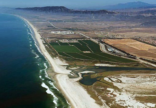 Camp Pendleton, Pacific coastline, north of San Diego county and the city of Oceanside.  Marine Corps Base Camp Pendleton.